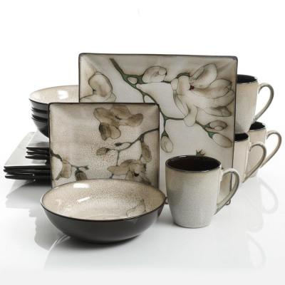Elite Clarice 16-Piece Cream Dinnerware Set (Service for 4)