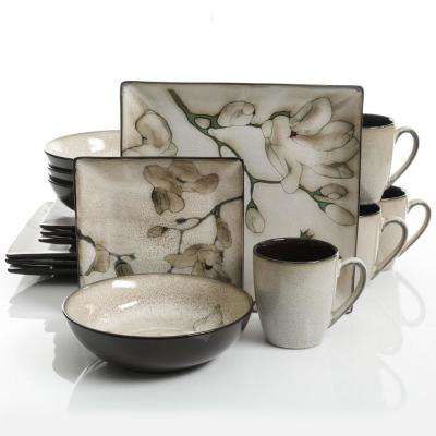 Elite Clarice 16-Piece Casual Miscellaneous Stoneware Dinnerware Set (Service for 4)