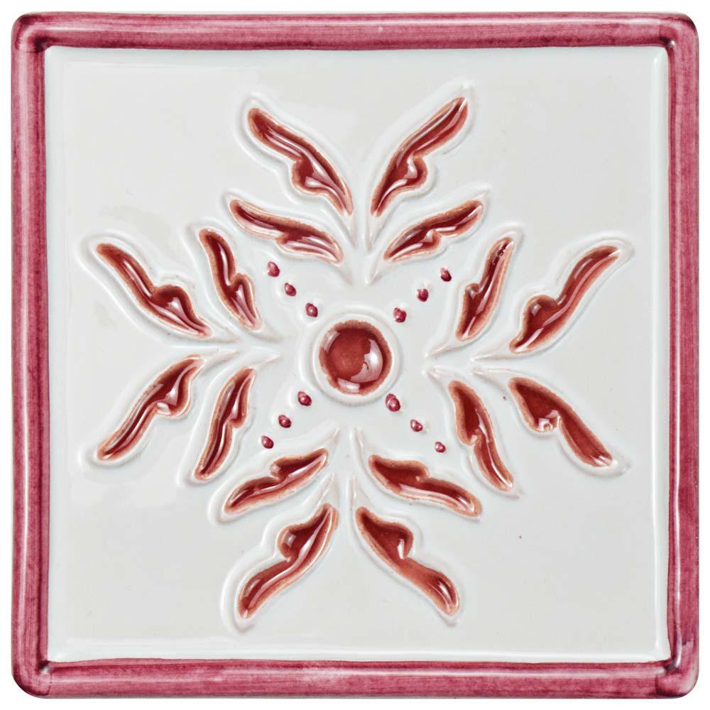 Novecento Taco Evoli Burdeos 5-1/4 in. x 5-1/4 in. Ceramic Wall Tile
