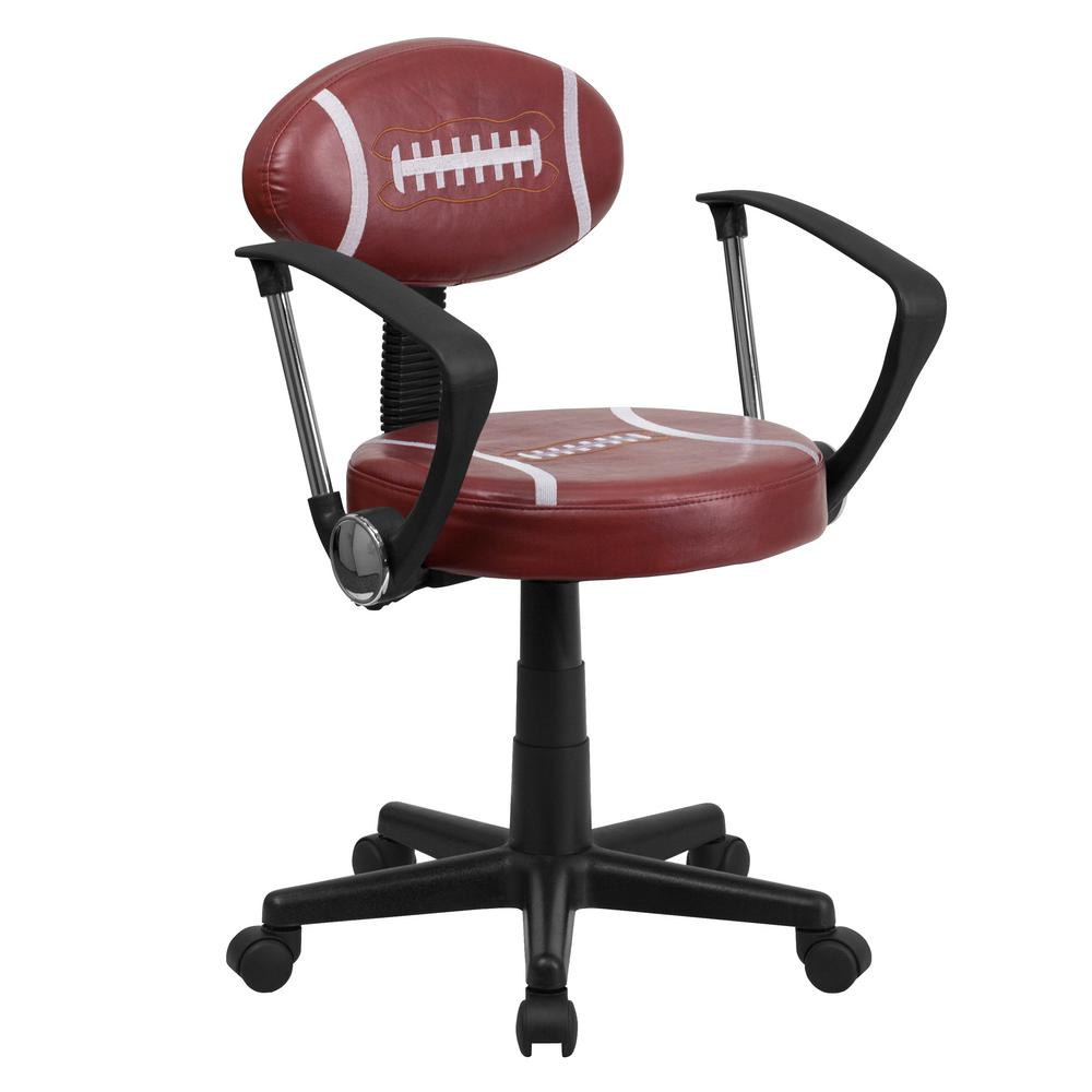 Football Brown Task Chair with Arms