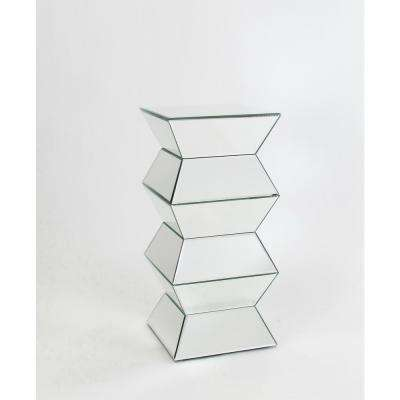 Clear Mirrored Flower Stand