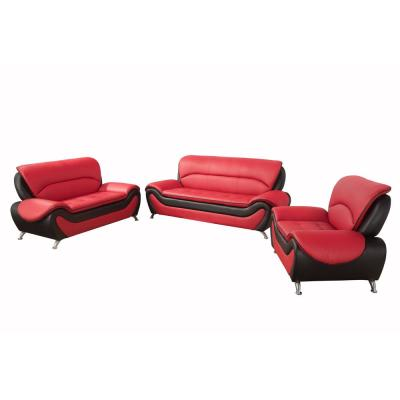 Faux Leather Red Sofas Loveseats