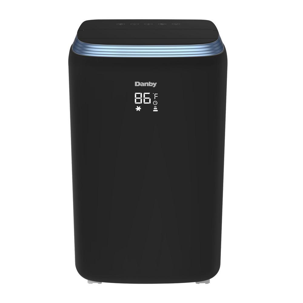 Danby 14,000 BTU (8,400 DOE) Portable Air Conditioner with Heat Pump and Dehumidifier in Black