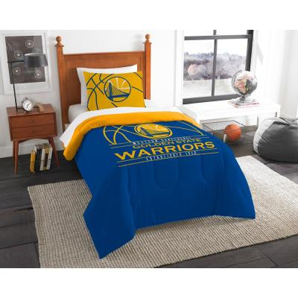 Warriors 2 Pc. Multi Color Polyester Reverse Slam Twin Comforter Set