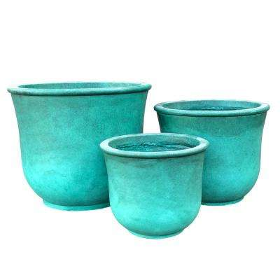 Lightweight Concrete Vibrant Ombre Tulip Planter (Set of 3)