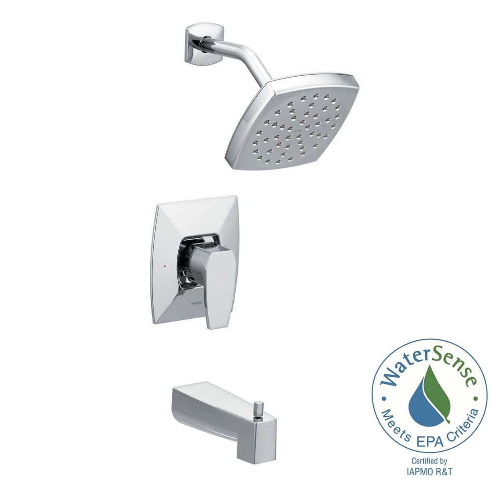 moen single lever shower faucet. MOEN Via Single Handle 1 Spray PosiTemp Tub and Shower Faucet  Eco Performance