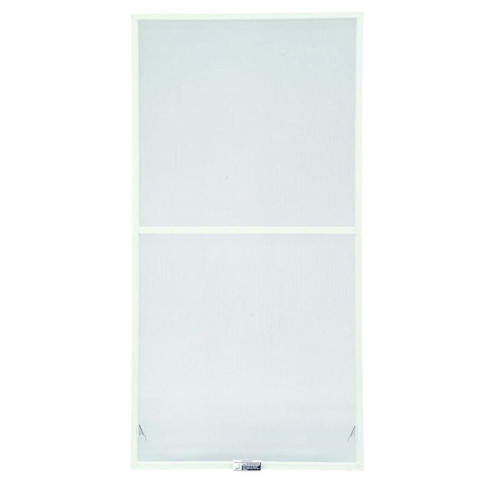 Andersen 35-7/8 in. x 38-27/32 in., White Aluminum Insect Screen, For 400 Series & 200 Series Narroline Double-Hung Windows