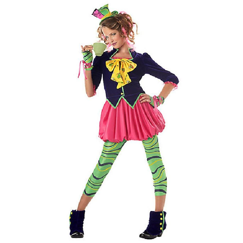 California Costume Collections Large Girls The Mad Hatter Kids Costume Cc04016 L The Home Depot