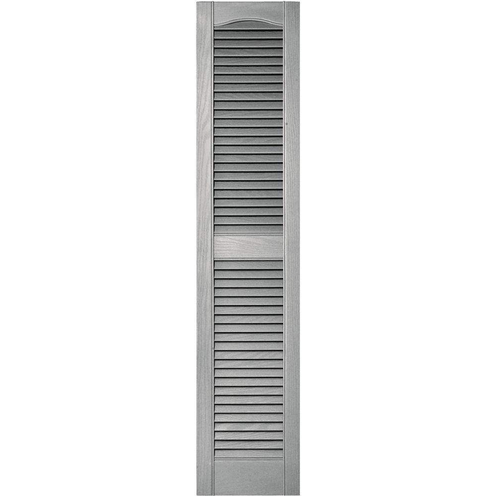 Louvered Vinyl Exterior Shutters Pair In #