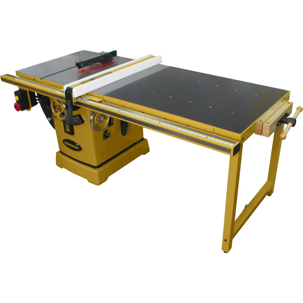 Powermatic PM2000B 230-Volt 5 HP 1PH 50 in. RIP Table Saw with Accu-Fence and Workbench