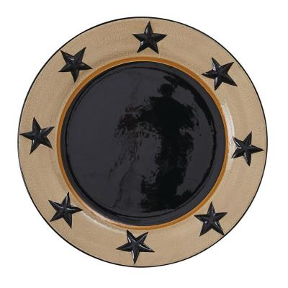 Star Vine Beige Black Dinner Plate (Set of 4)
