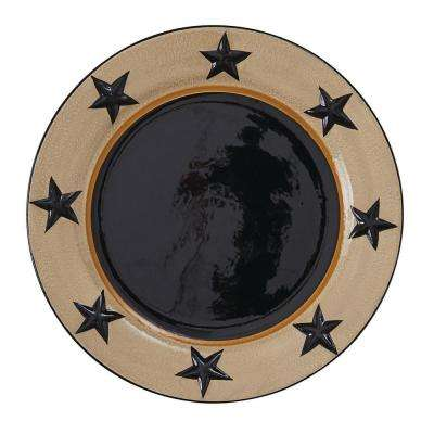 Star Vine Beige Black Dinner Plate (Set of 4)