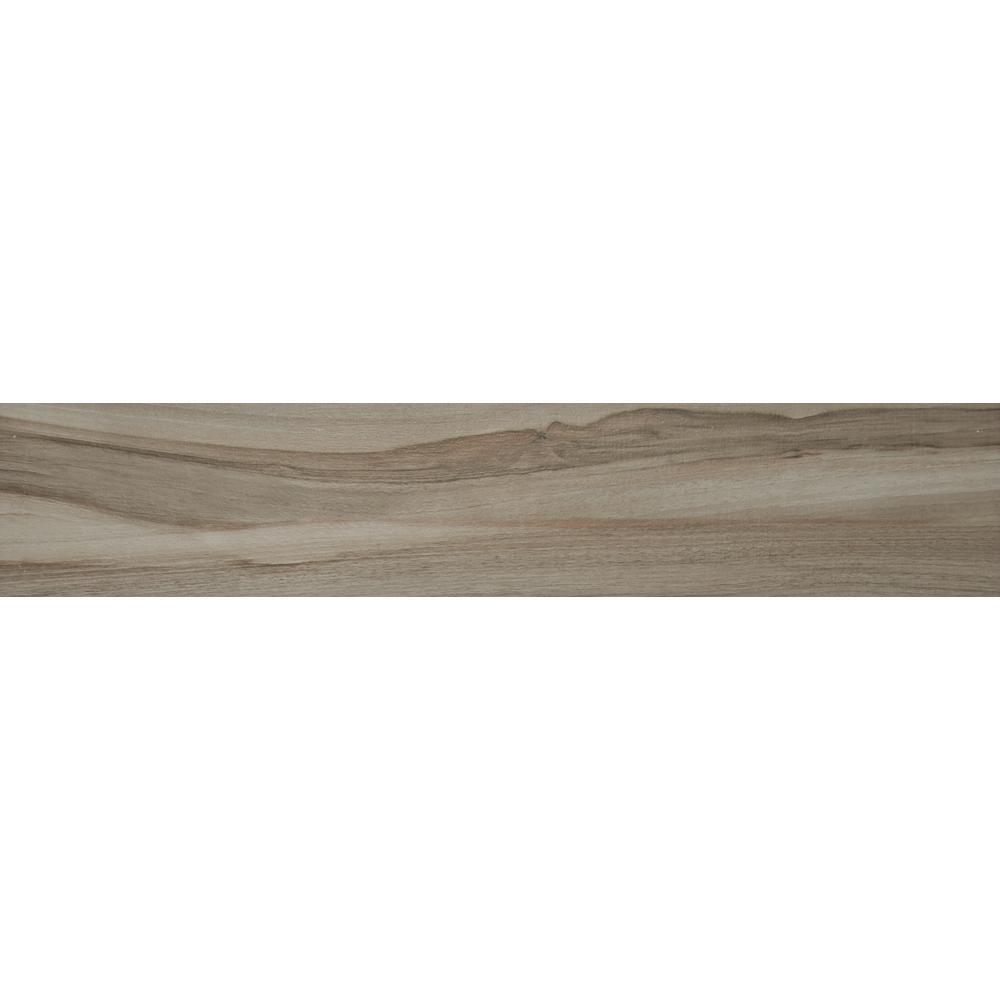 Aspenwood Ash 9 in. x 48 in. Glazed Porcelain Floor and