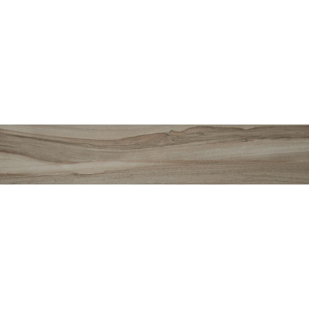 Aspenwood Ash 9 in. x 48 in. Glazed Porcelain Floor and