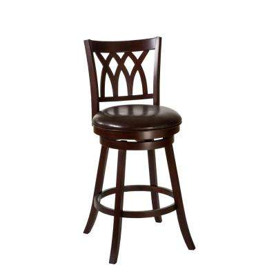Tateswood 31 in. Seat Height Cherry Swivel Bar Stool