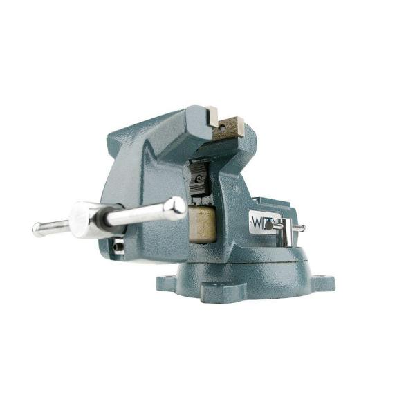 6 in. Mechanics Vise with Swivel Base, 4-2/16 in. Throat Depth