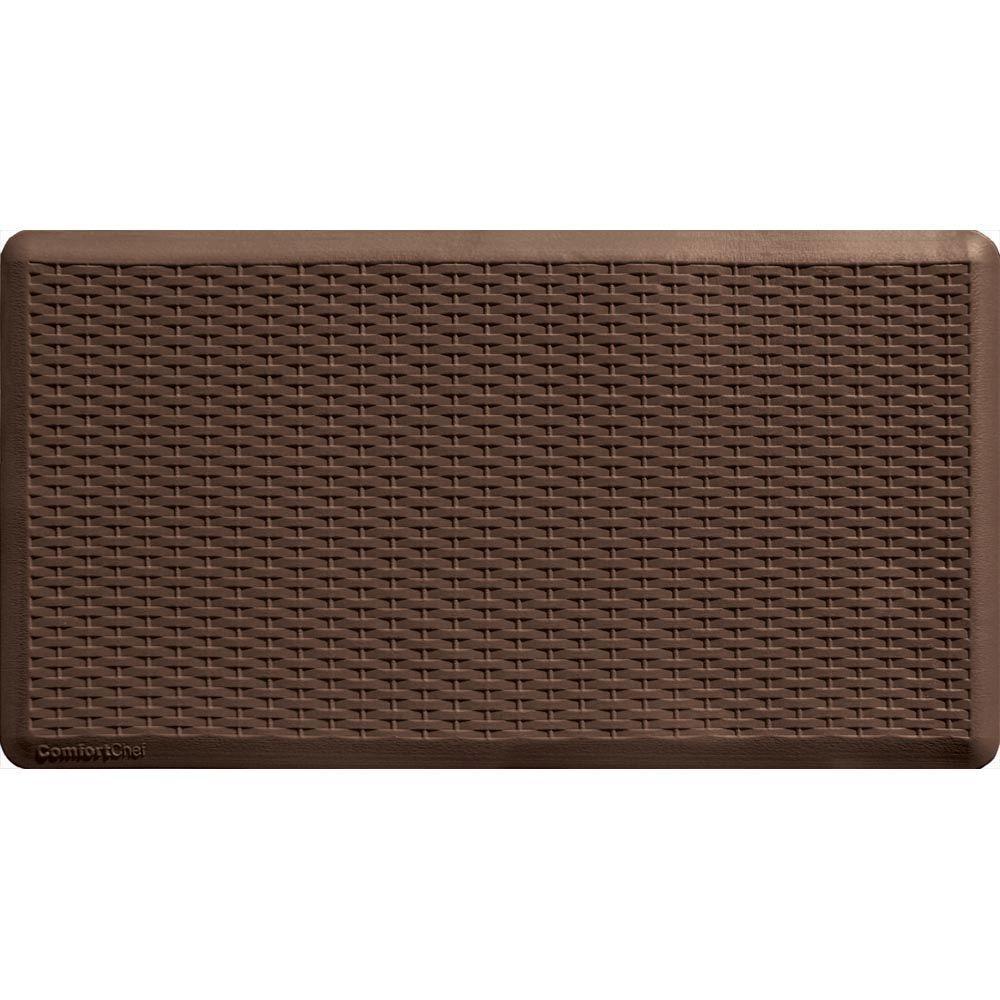 ComfortChef Brown 20 in. x 36 in. PVC Foam Mat-DISCONTINUED