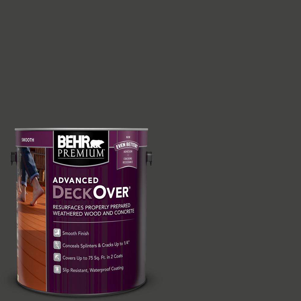 BEHR Premium Advanced DeckOver 1 gal. #SC-102 Slate Smooth Solid Color Exterior Wood and Concrete Coating