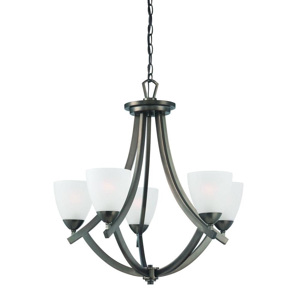 Thomas Lighting Charles 5-Light Oiled Bronze Chandelier-DISCONTINUED