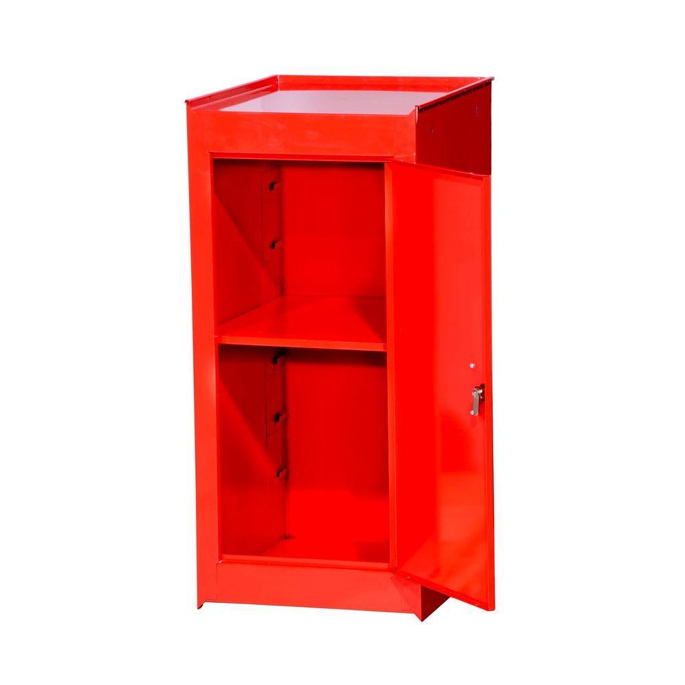 International Tech Series 15 in. 1-Shelf Full Side Locker, Red