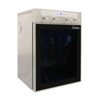 16.35 in. 4-Bottle Wine Dispenser in Stainless