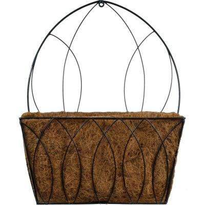 15 in. W x 8 in. H Devon Coco Metal Wall Planter
