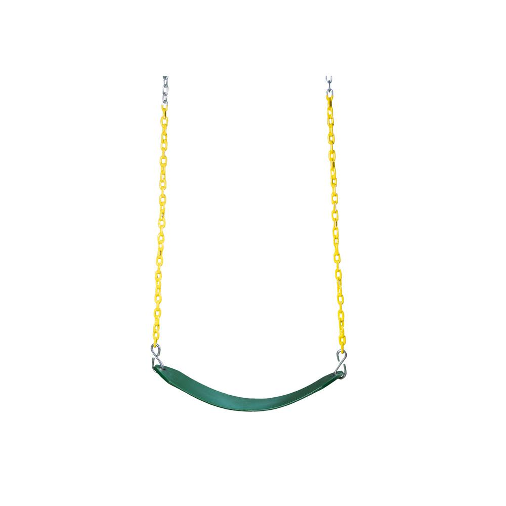 Deluxe Green Swing Belt with Yellow Chain