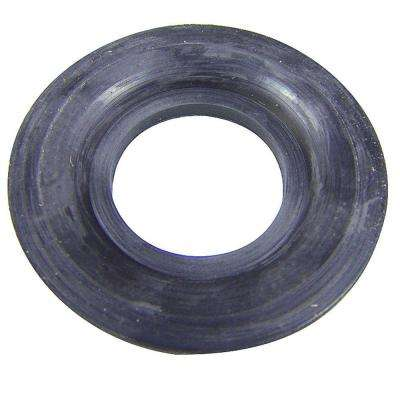 Rubber Tub Drain Gasket in Black