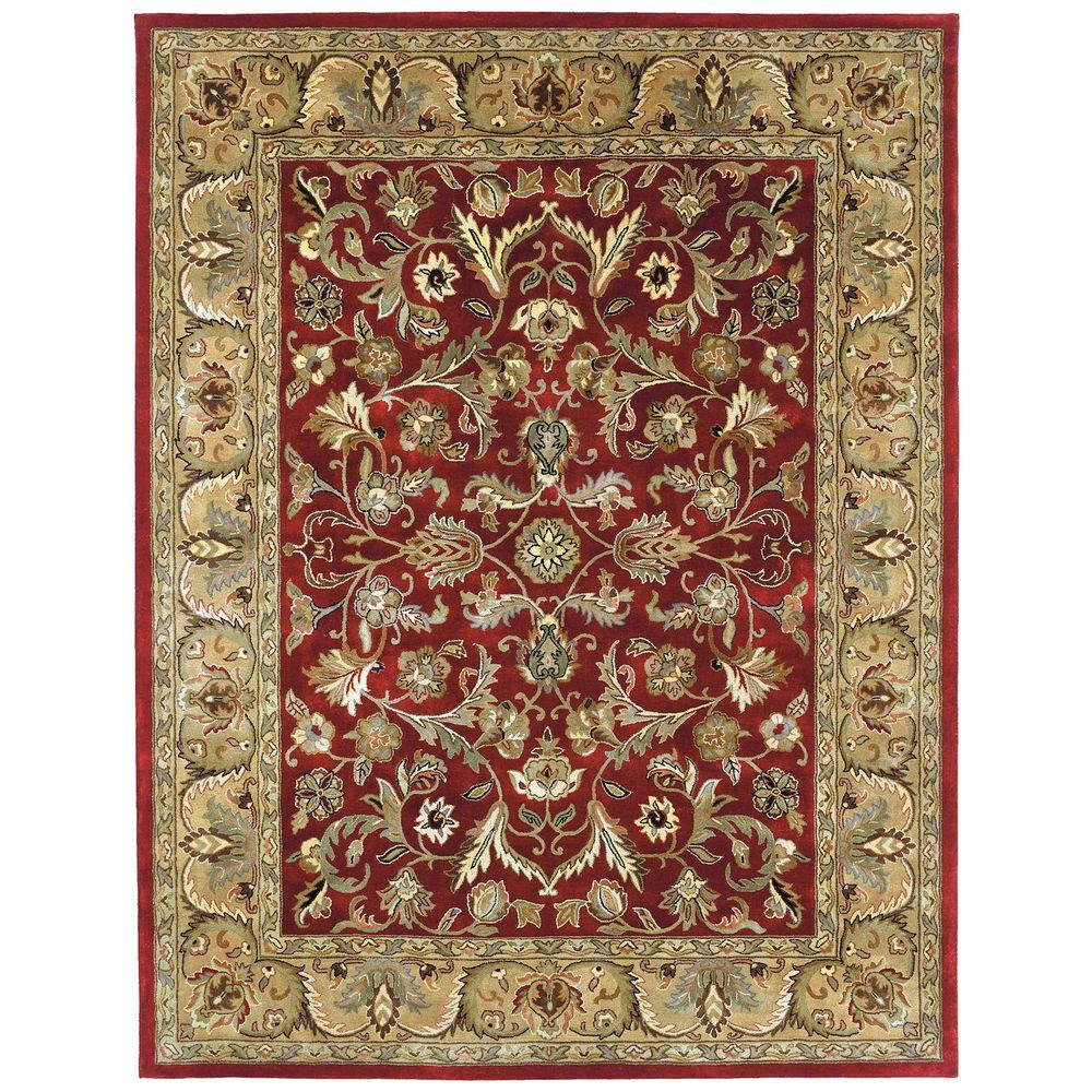 Kaleen Mystic William Red 8 Ft X 10 Ft Area Rug 6001 25