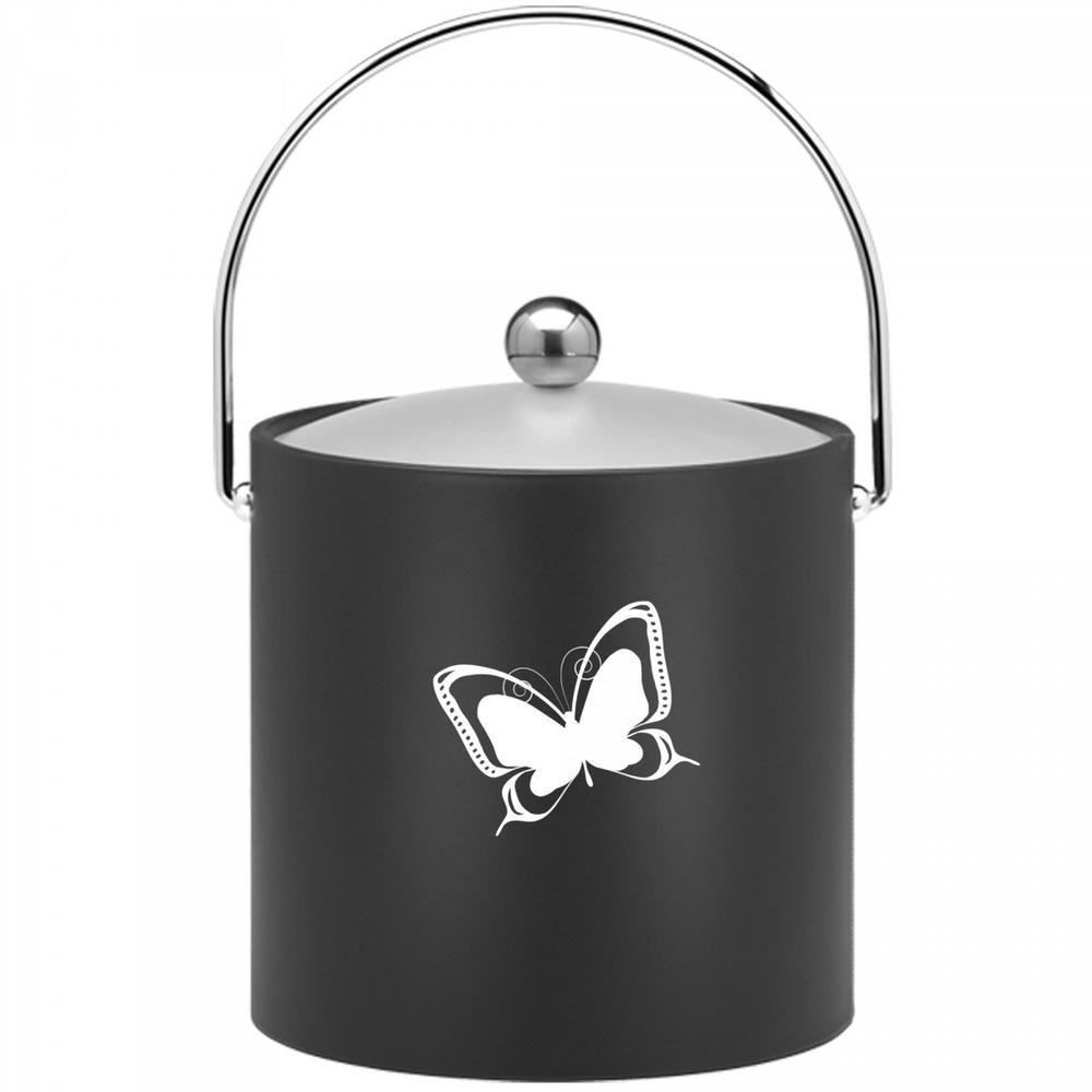 Click here to buy Kraftware Kasualware Butterfly 3 Qt. Ice Bucket in Black by Kraftware.