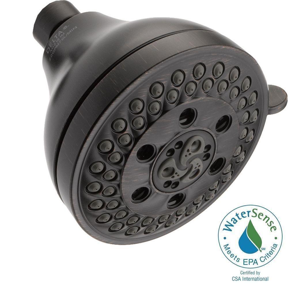 5-Spray 4-1/8 in. H2OKinetic Fixed Shower Head in Venetian Bronze