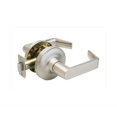 Grade 1 WFL Satin Stainless Cylindrical UL Passage Hall/Closet Door Lever