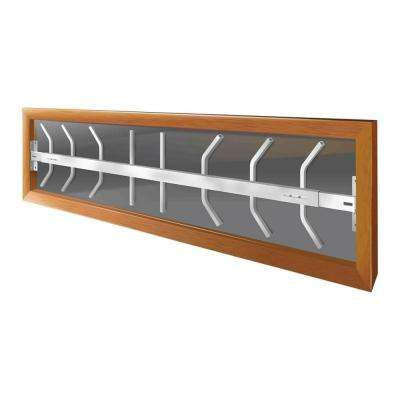 Fixed 52 in. to 64 in. Adjustable Width 1-Bar Window Guard, White