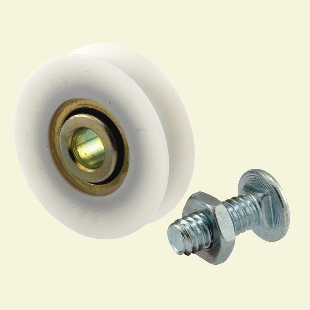 1-1/4 in. Nylon Ball Bearing Wheel Screen Door Roller Assembly