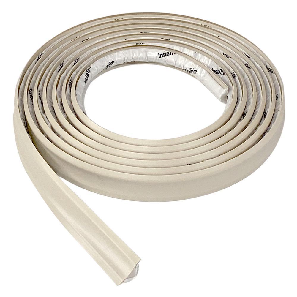 3/4 in. x 1/2 in. x 120 in. PVC Inside Corner Self-adhesive Flexible Trim Moulding