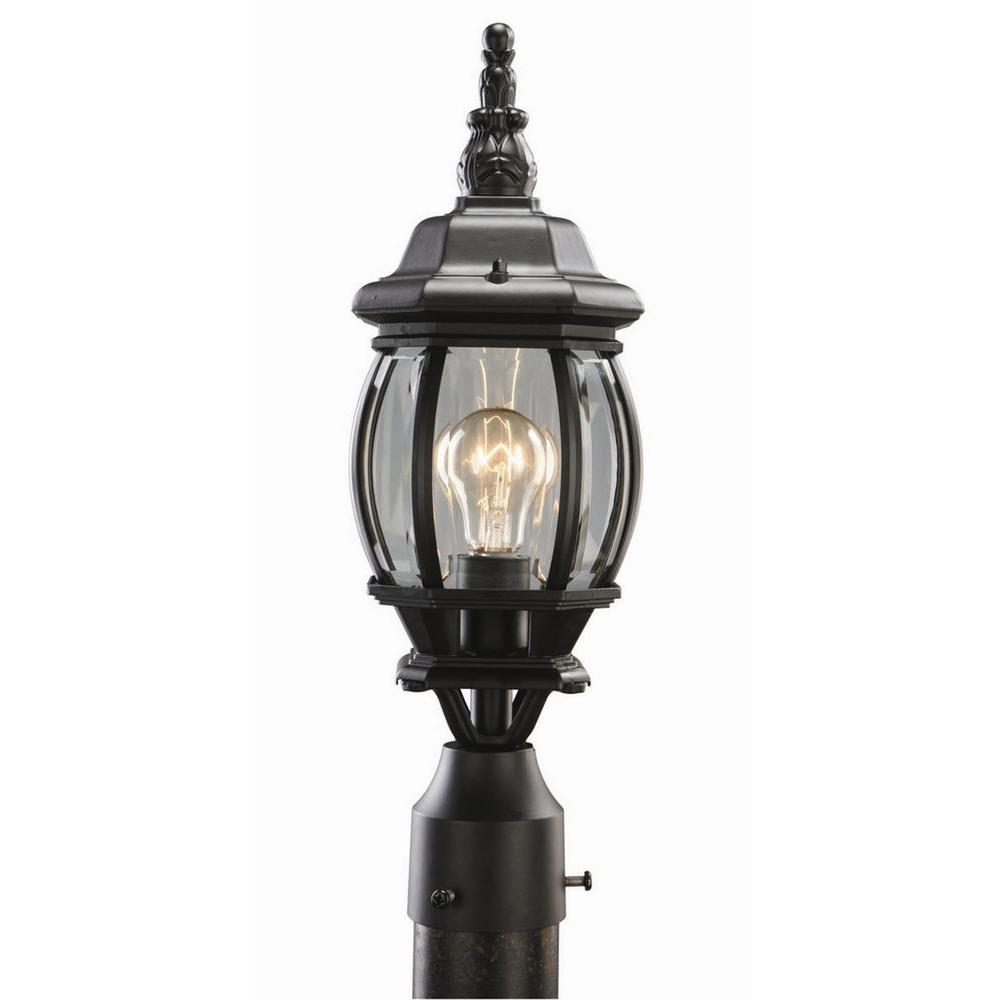 Design House Canterbury Black Diecast Outdoor Post Light