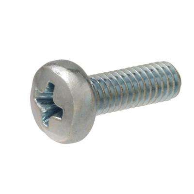 M6 x 30 Zinc-Plated Pan-Head Combo Drive Machine Screws (2-Pieces)
