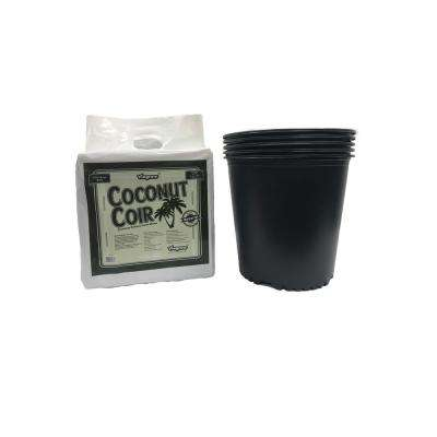 5 Gal. to 4.02 Gal. per 15.19 l Nursery Trade Pots with Coconut Coir Growing Media (5-Pack)