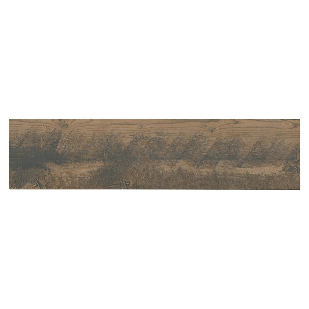 Marazzi Montagna Wood Weathered Brown 6 in. x 24 in. Porcelain Floor and Wall Tile (14.53 sq. ft. / case) -  ULS3624HD1PR