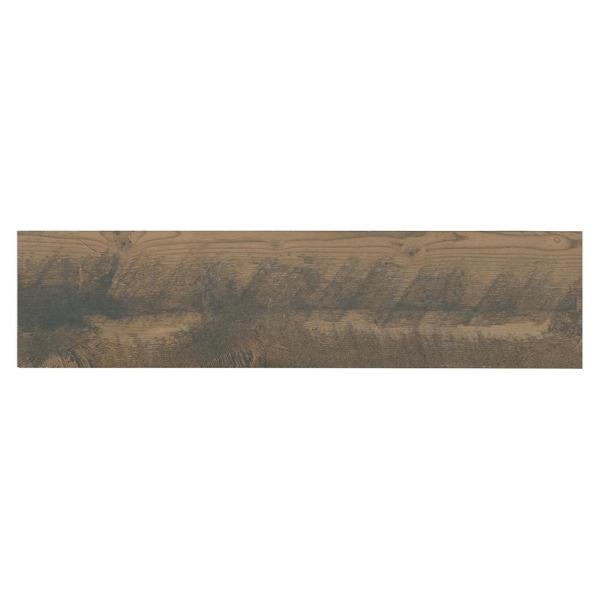 Montagna Wood Weathered Brown 6 in. x 24 in. Porcelain Floor and Wall Tile (14.53 sq. ft. / case)