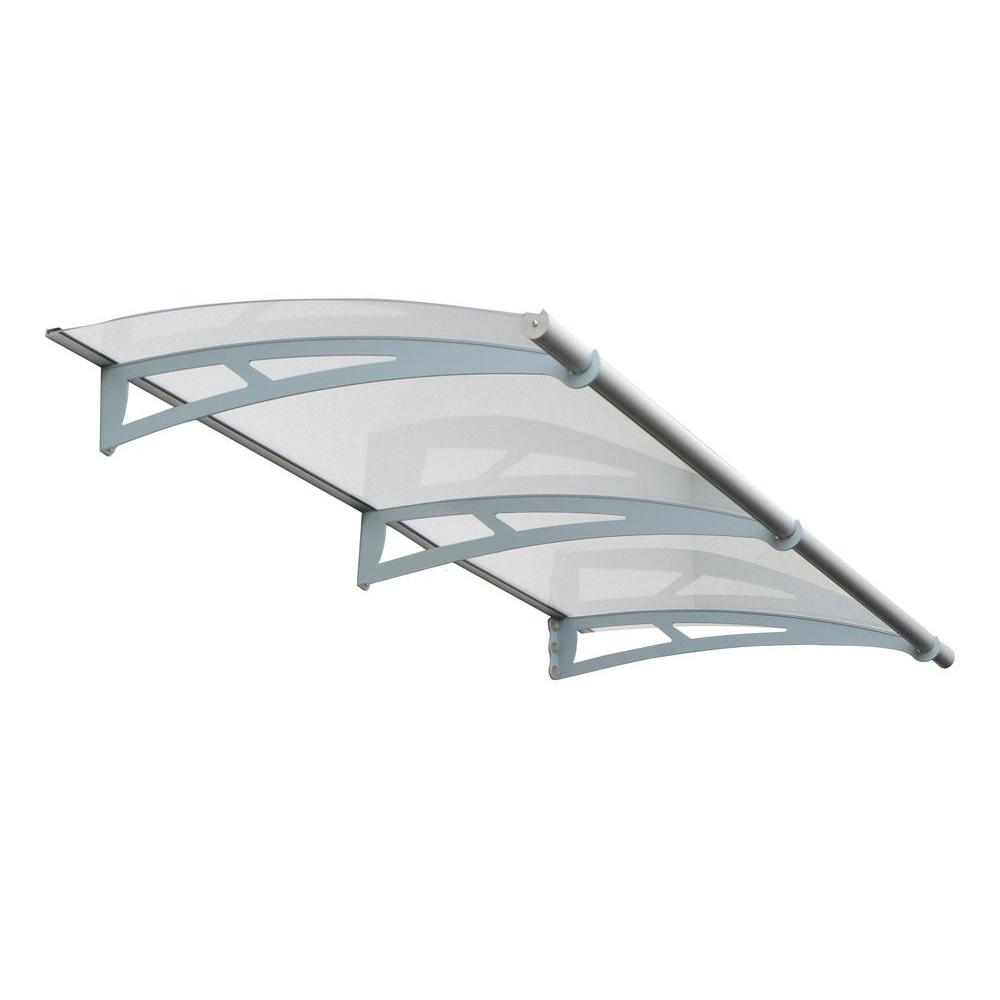Palram Aquila 2050 Awning (36 in. D x 6.9 in. H) in  sc 1 st  The Home Depot & Palram Aquila 2050 Awning (36 in. D x 6.9 in. H) in Grey/Clear ...