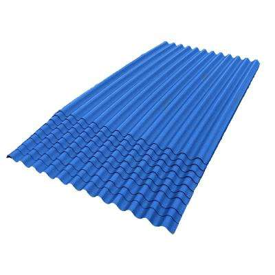 6 ft. 7 in. x 4 ft. Asphalt Corrugated Roof Panel in Blue (10-Pack)