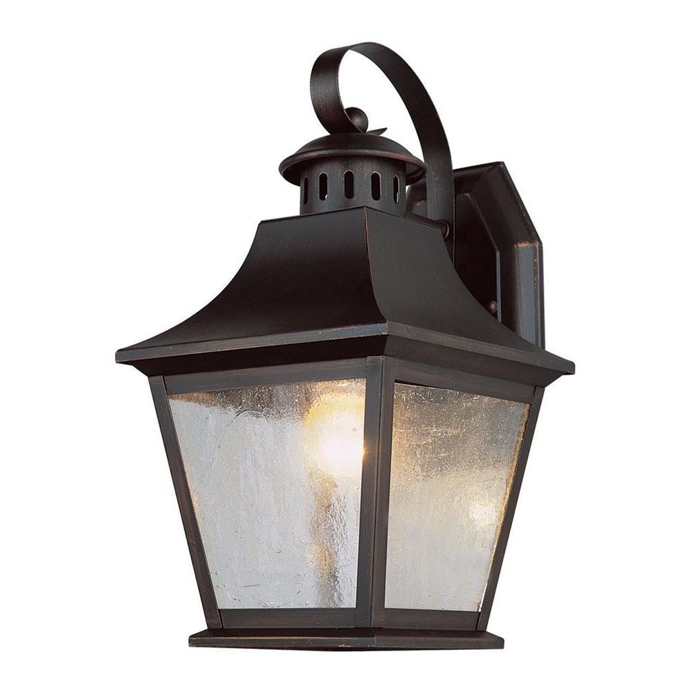 Stewart 1-Light Outdoor Rubbed Oil Bronze Incandescent Wall Light