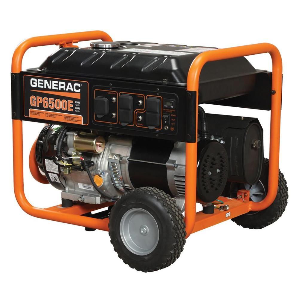 Generac 6,500-Watt Gasoline Powered Portable Generator