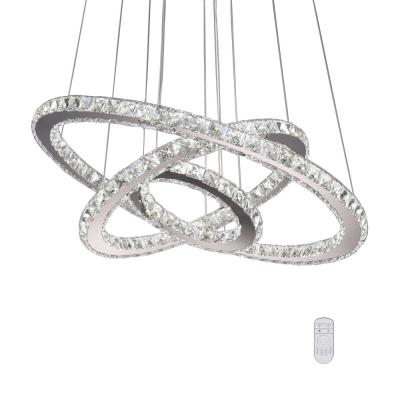 Lorri 72-Watt Integrated LED Chrome Wagon Wheel Chandelier with Clear K9 Crystals Dimmable