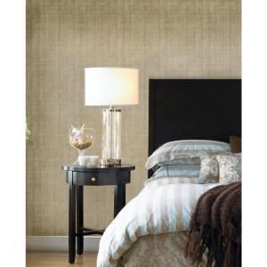 NuWallpaper Gold Ramie Linen Peel and Stick Wallpaper by NuWallpaper