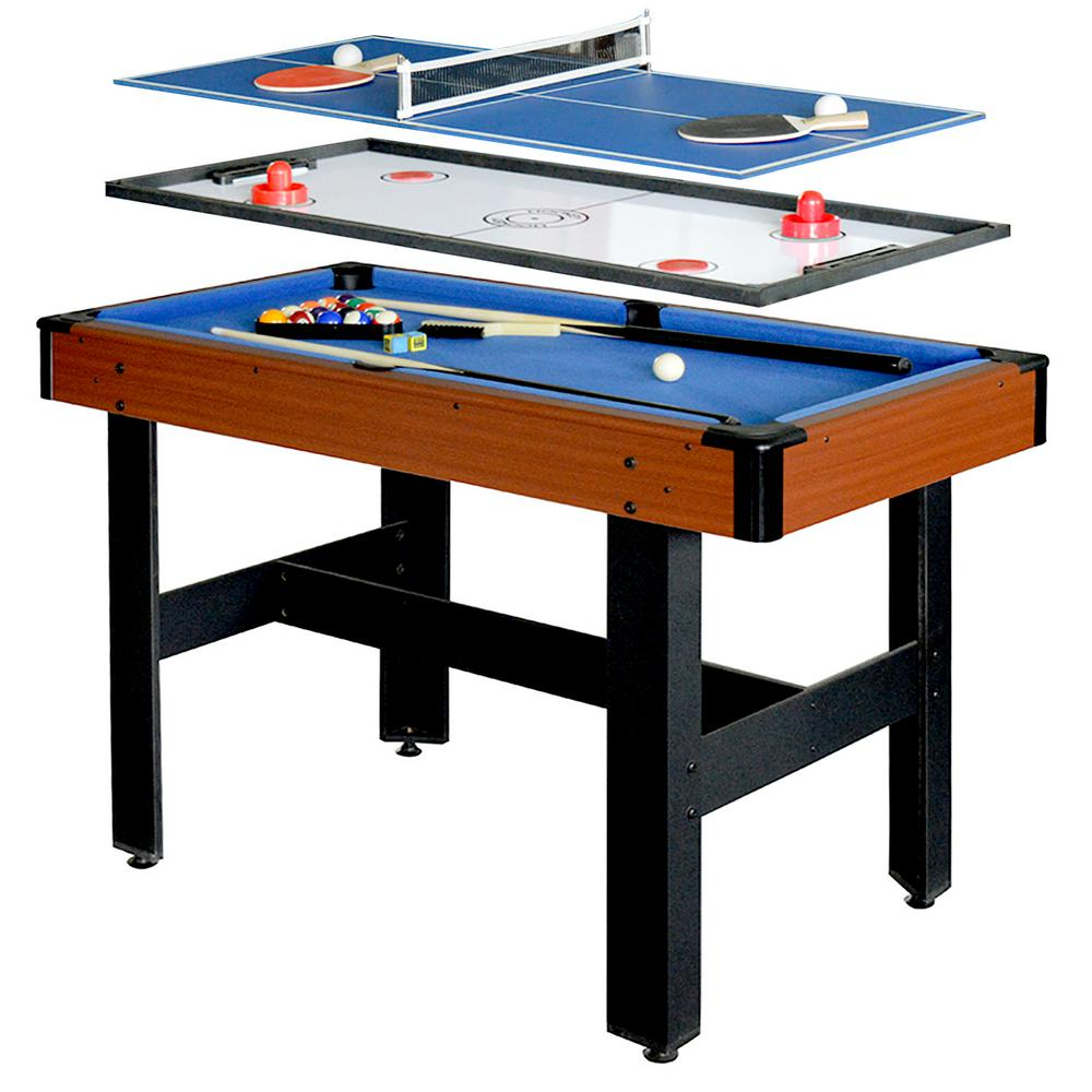 Hathaway Triad 4 Ft. 3-in-1 Multi-Game Table-BG1131M