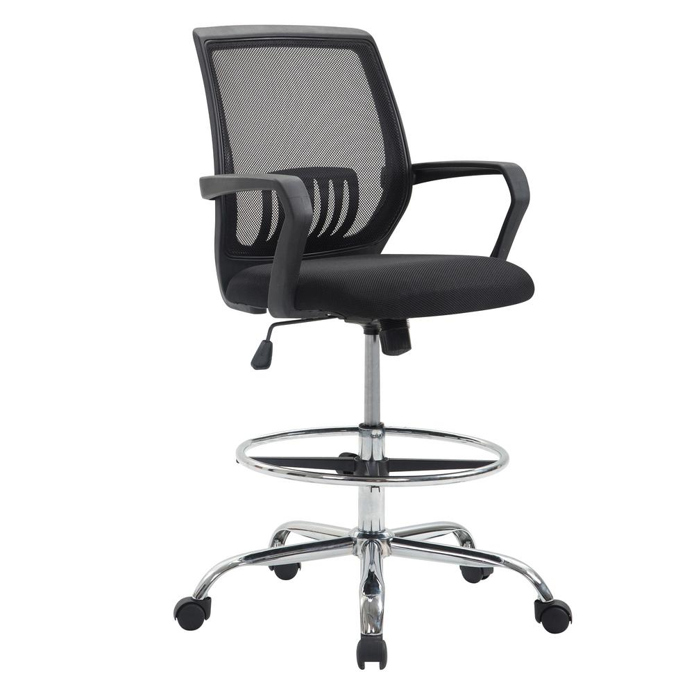 poly and bark gerberding black mesh drafting chair hd 292 blk the