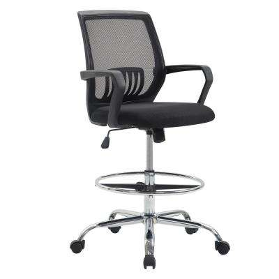 Gerberding Black Mesh Drafting Chair