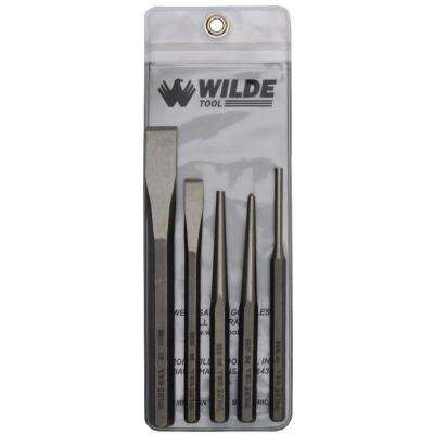 Punch and Chisel Set in Natural with Vinyl Pouch (5-Piece)